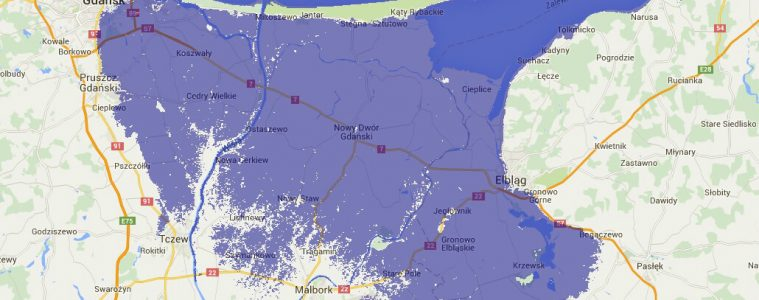 Skutki podniesienia się poziomu morza o 1 metr