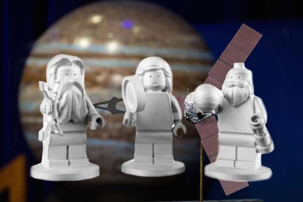 Zeus, Junona i Galileusz. Źródło: Lego/NASA