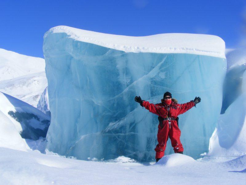 Dominika na Spitsbergenie. Fot. Dominika Dąbrowska