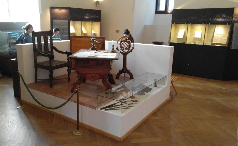 Stanowisko pracy Mikołaja Kopernika w olsztyńskim zamku. Fot. Crazy Nauka