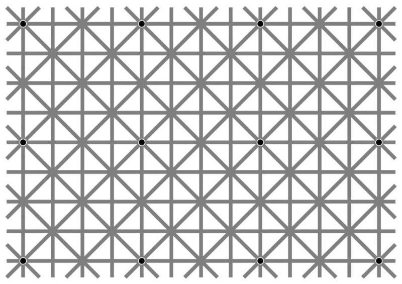 Ile kropek na raz widzisz? Rys. Akiyoshi Kitaoka