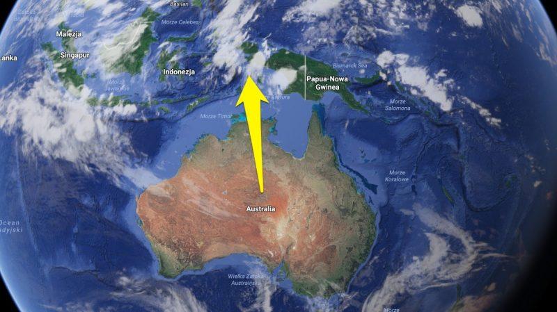 Australię trzeba przesunąć o dwa metry. Fot. Google Maps