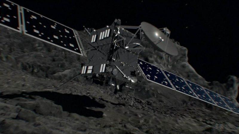 Tak mają wyglądać ostatnie chwile sondy Rosetta. Źródło: ESA