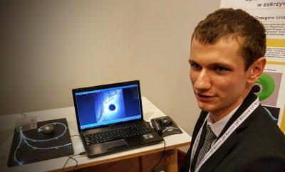 Prezentacja systemu śledzenia promieni świetlnych. Fot. Crazy Nauka