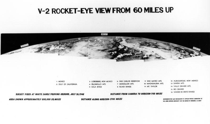 Panorama utworzona ze zdjęć wykonanych dzięki rakietom V-2