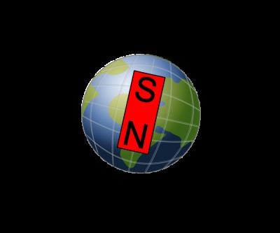 Schemat linii pola magnetycznego Ziemi. Autor: Zureks / Wikimedia