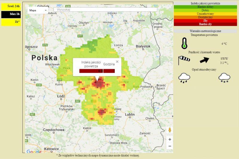 Źródło: Wojewódzki Inspektorat Ochrony Środowiska w Warszawie