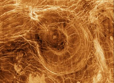 Wenusjańskie arachnoidy. Fot. NASA