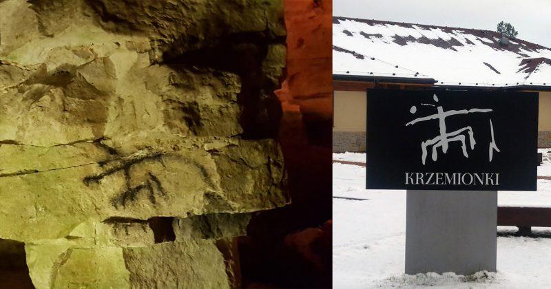 Znak bogini matki stał się logiem Krzemionek Opatowskich. Fot. Crazynauka