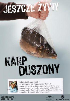 """Plakat kampanii Klubu Gaja """"Jeszcze żywy karp"""""""