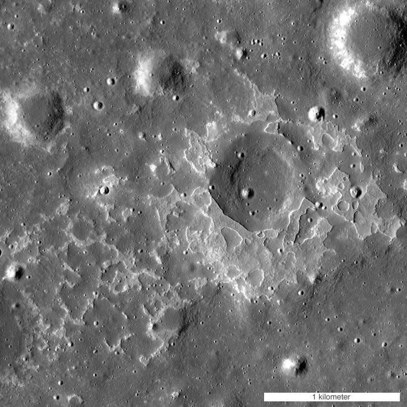 Księżycowy wulkan o nazwie Maskelyne. Fot. NASA/GSFC/Arizona State University