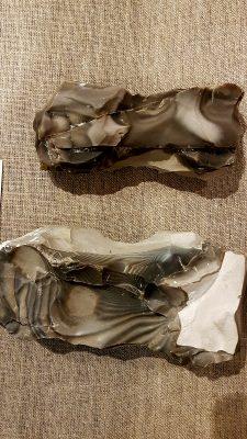 Neolityczne narzędzia górnicze wykonane z krzemienia pasiastego Fot. Crazynauka