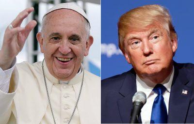 """Papież Franciszek nigdy nie stwierdził, że """"popiera"""" Donalda Trumpa. Fot. Wikimedia"""