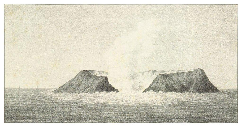 Ferdinandea 6 sierpnia 1831 roku