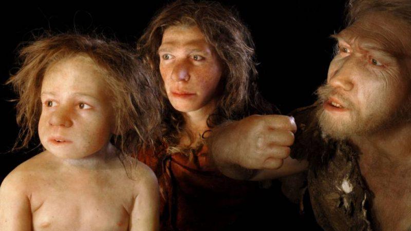 Rekonstrukcja neandertalskiej rodziny. Źródło: Studio Elisabeth Daynes