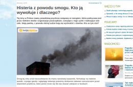 """""""Histeria z powodu smogu"""" – jak manipulować ważnym tematem"""