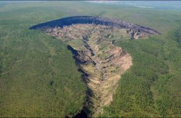 Batagaika widziani z lotu ptaka. Fot. Aleksander Gabyszew