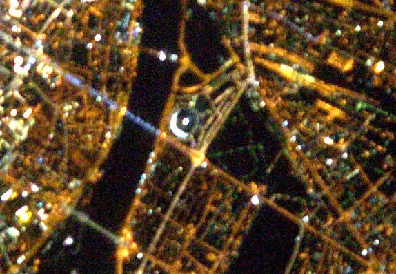 Stadion Narodowy w Warszawie. Fot. Thomas Pesquet, ESA