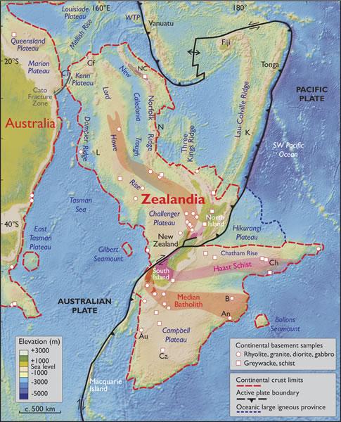 Tak obszar Zelandii określają autorzy pracy
