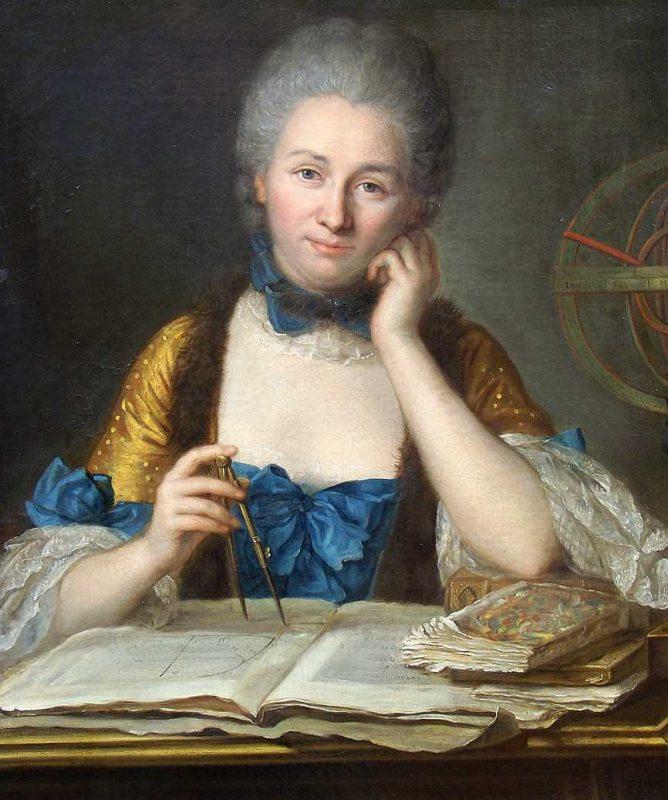 Portret Émilie du Châtelet pędzla Maurice Quentin de La Tour