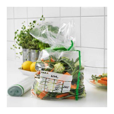 FÖRNYBAR - na tych torebkach łatwo opisać zawartość Fot. IKEA