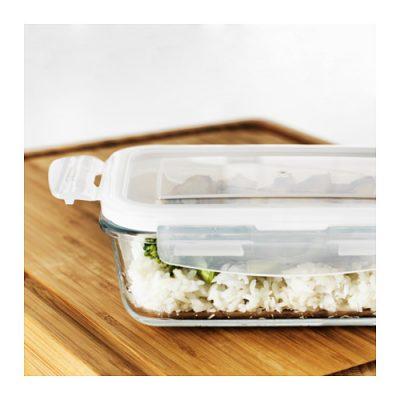 FÖRTROLIG - szklany pojemnik Fot. IKEA