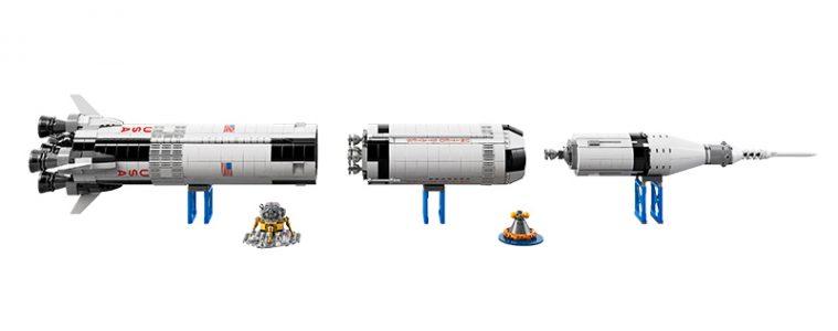 Zestaw LEGO Saturn V na podstawkach