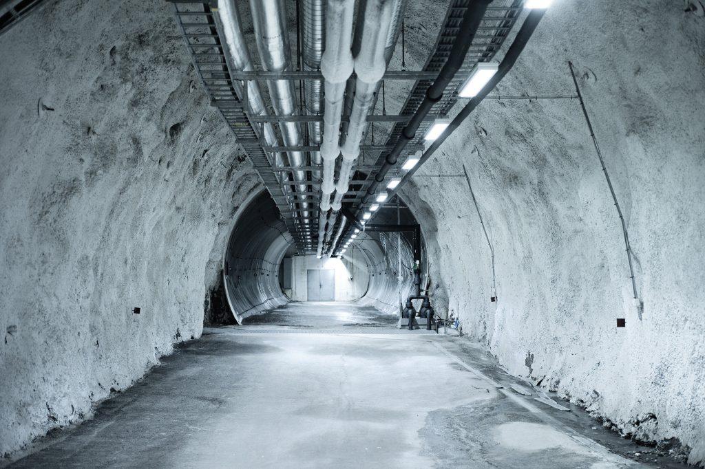 Tunel do którego dostała się woda Fot: Matthias Heyde