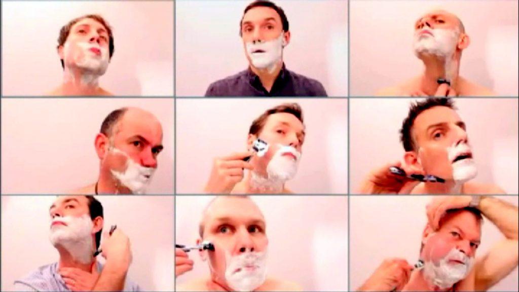 Jak golą się mężczyźni? Na specjalnych stanowiskach śledzony jest każdy ruch. Fot. P&G
