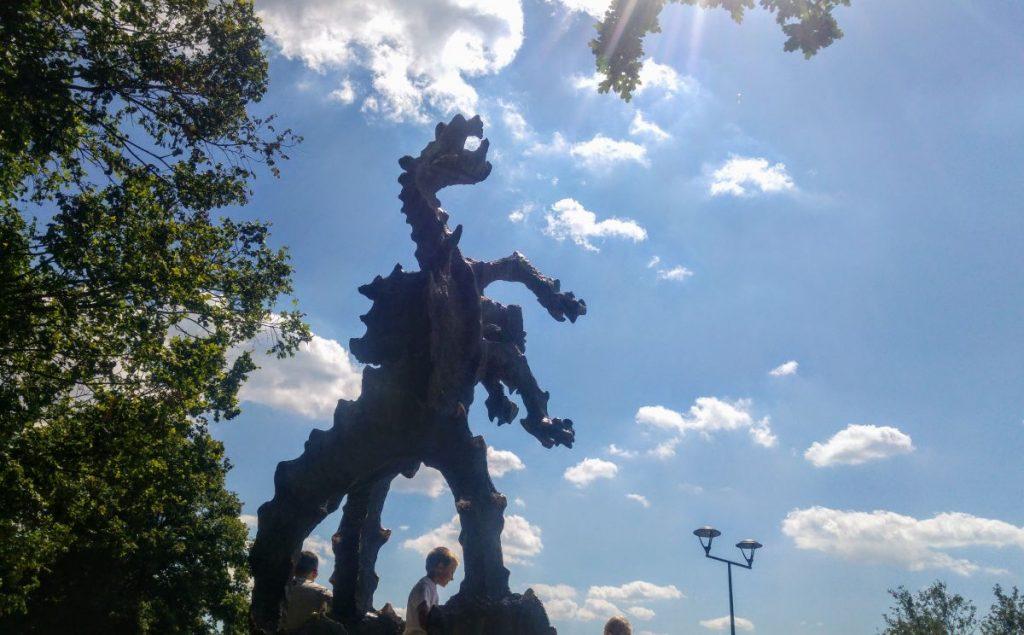 Smok Wawelski, rzeźba Bronisława Chromego. Fot. Crazy Nauka