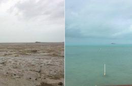 Huragan Irma dosłownie zassał wodę z oceanu, odsłaniając brzegi