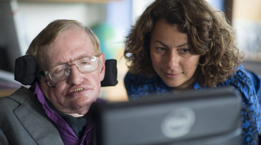 Lama Nachman ze Stephenem Hawkingiem. Fot. Intel