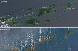 Zniszczenia po huraganie Irma widać nawet z satelity