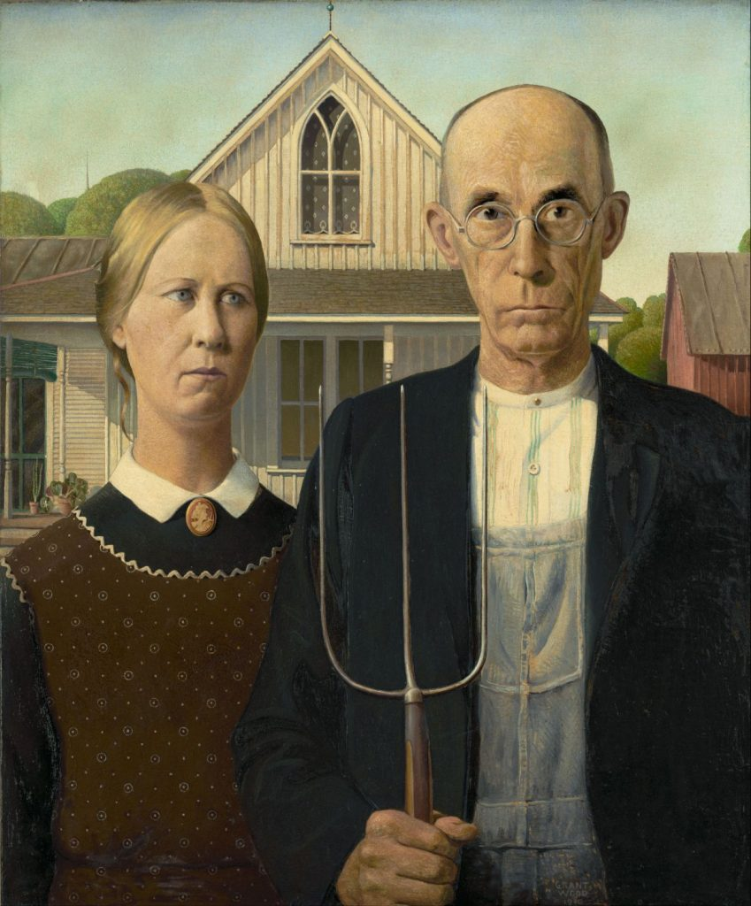 "Obraz ""American Gothic"" Granta Wooda"