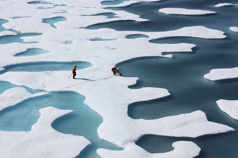 Zmniejszająca się pokrywa lodowa Arktyki fot. NASA Goddard Space Flight Center