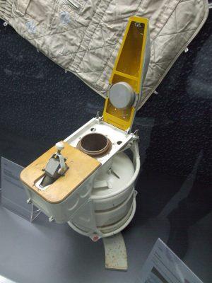 Rosyjska toaleta kosmiczna. Fot. Claus Ableiter