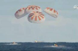 Udało się – załogowa kapsuła Crew Dragon SpaceX wróciła na Ziemię!