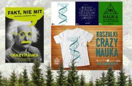 Książka i koszulki Crazy Nauki na prezent